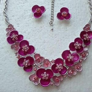 Australian Crystal Necklace and Earring set